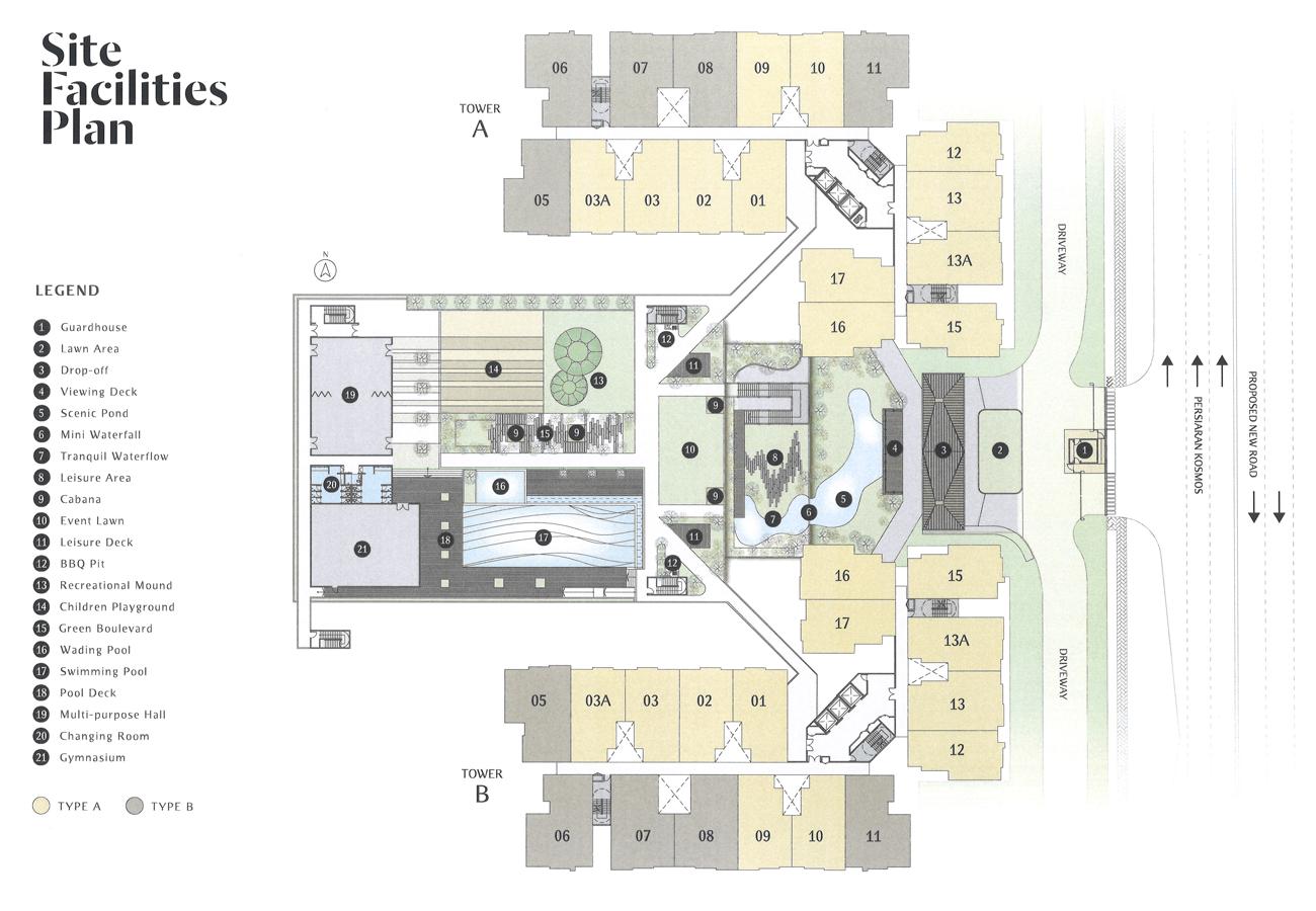 Embayu Residence Damansara West Site Facilities Plan