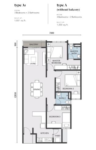 Embayu Residence Damansara West Floor Plan Type A