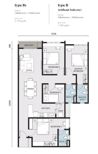 Embayu Residence Damansara West Floor Plan Type B