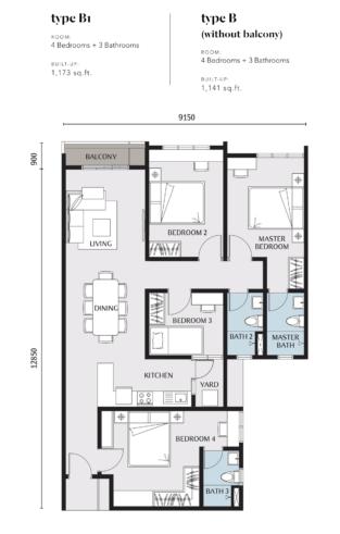 Embayu Residence Damansara West Floor Plan Type B